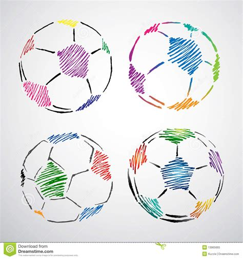 soccer doodle colorful soccer doodle royalty free stock photo