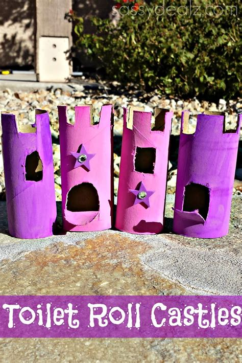 Toilet Paper Roll Castle Craft - list of toilet paper roll crafts for crafty morning