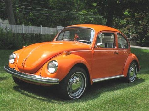 orange volkswagen beetle my aunt linda had an orange vw bug that she painted to