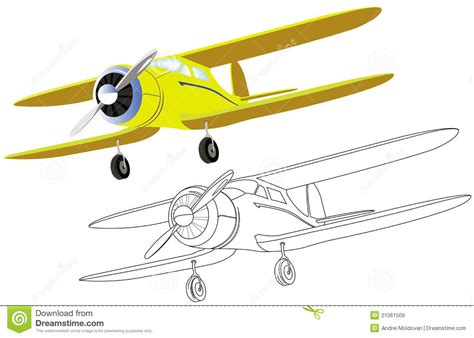 clipart aereo vecchio aereo con l elica illustrazione vettoriale