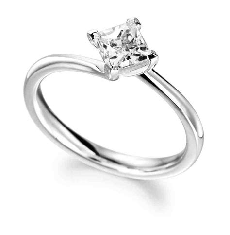 princess cut solitaire engagement rings wedding