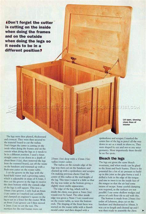 linen chest plans woodarchivist