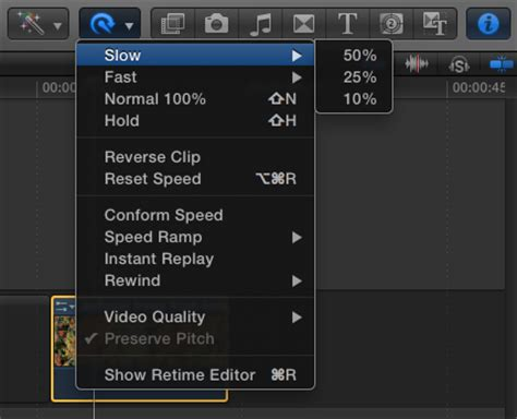 final cut pro how to speed up clip using optical flow to slow down footage in fcp x