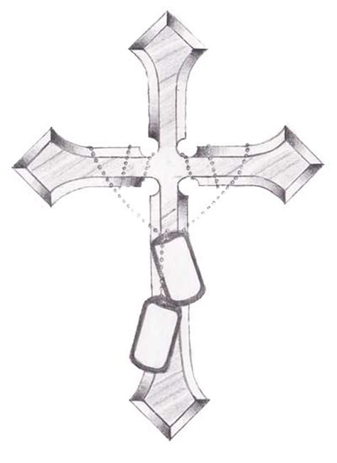 cross tattoos with dog tags cross and tags commission by ninja037 on deviantart