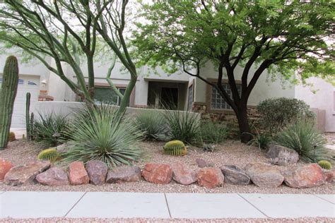 Landscape Edging With Boulders Landscape Rock Arizona Desert Xeriscape