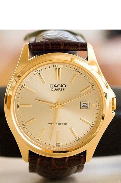 Casio Mtp Voo2g Gold casio mtp 1183q 9a s gold analogue leather band date palladi great watches