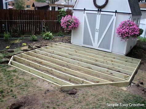 build  ground level deck hoosier homemade