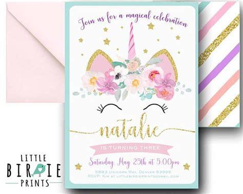 free printable unicorn stationery unicorn birthday invitation unicorn invitation printable