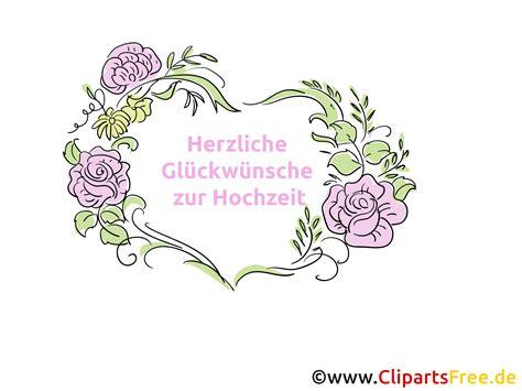 Bilder Hochzeit by Herzliche Gl 252 Ckw 252 Nsche Zur Hochzeit Clipart Bild Kostenlos