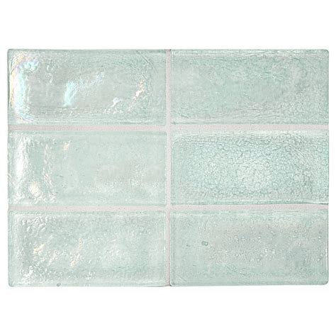 recycled glass backsplash tile trueglass tile 2 quot x 4 quot recycled glass frostlake pearl