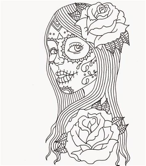 coloring books for adults popular free printable day of the dead coloring pages best