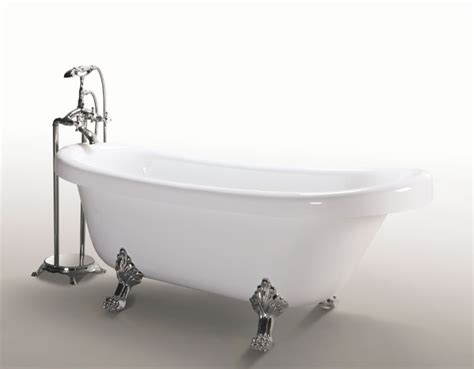 capienza vasca da bagno margherita con piedini argento simba shopping