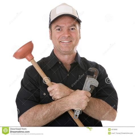 Friendly Plumber Friendly Plumber Stock Image Image Of Middle Background