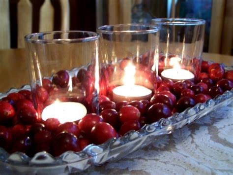 picture of cranberry christmas decor ideas
