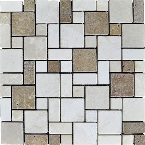 the pattern sourcebook mini 1780674716 atlantic stone source mosaics marble mini french pattern tumbled botticino noce
