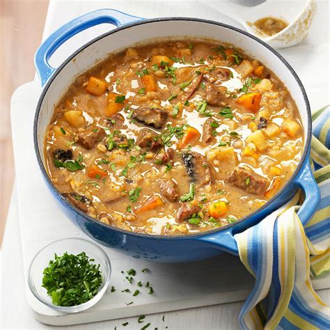 vegetables recipes beef barley soup with roasted vegetables recipe taste of