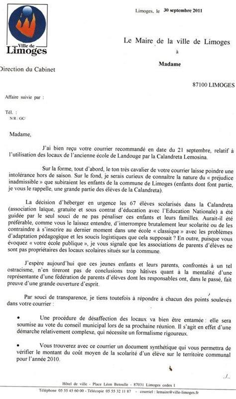 Lettre De Recours Ecole Lettre De Recours Gracieux Et R 233 Ponse Du Maire Ecole Publique 87