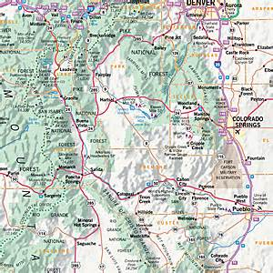 detailed colorado map printable highway map colorado roads pictures to pin on
