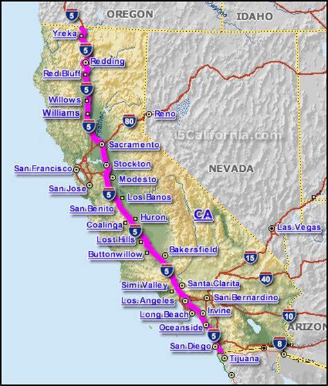 california map hwy 5 interstate 5 california map