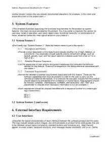 simple software specification template software requirement specification master template