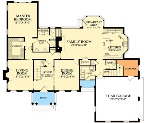colonial open floor plan colonial with open floor plam 32475wp architectural