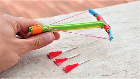 How To Make A Crossbow Paper - how to make a powerful mini crossbow from paper with