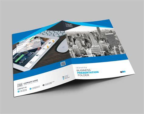 printed fontfabric business presentation folder template template catalog