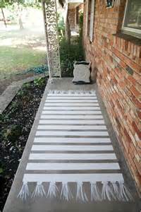 Outdoor Floor Painting Ideas Easy Painted Concrete Rug Hometalk