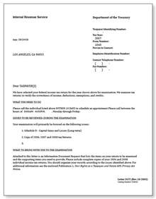 Tax Auditor Cover Letter by Irs Audit Letter 3572 Sle 5