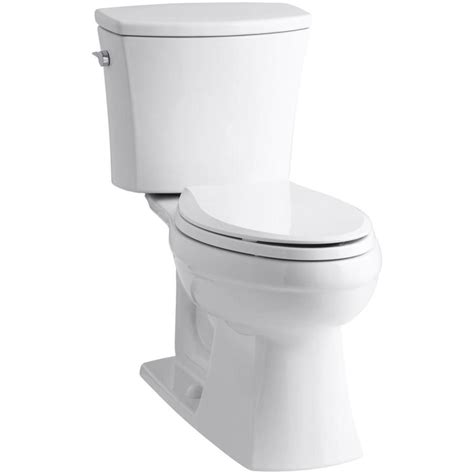 kohler comfort height elongated toilet shop kohler kelston white 1 6 gpf 6 06 lpf 12 rough in