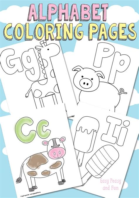 printable alphabet book template free printable alphabet coloring pages easy peasy and
