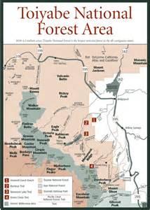 california national forests map sherpa guides california nevada toiyabe