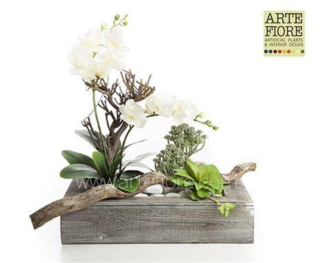 orchidea fiori secchi composizione di fiori artificiali in tessuto orchidee e