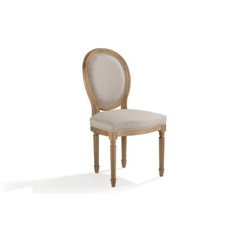 chaises médaillon chaise m 233 daillon ch 234 ne tissu 233 cru medicis pier import