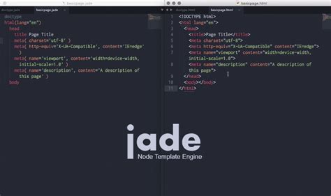 jade html layout how to speed up your html design with jade video