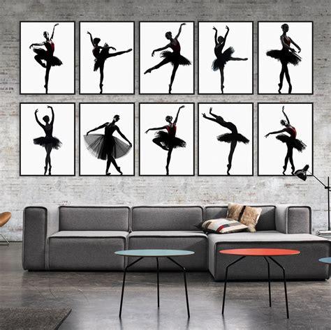 Ballerina Wall Mural aliexpress com buy modern black white ballet dancer