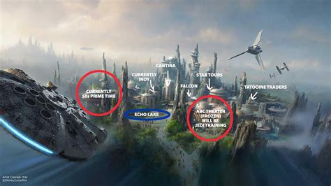 Star Wars Land Layout Hollywood Studios   star wars land and toy story land possible locations