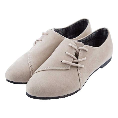 Flat Shoes Casual Aa ᗗ2017 autumn ᐂ flats color lace up up toe suede casual