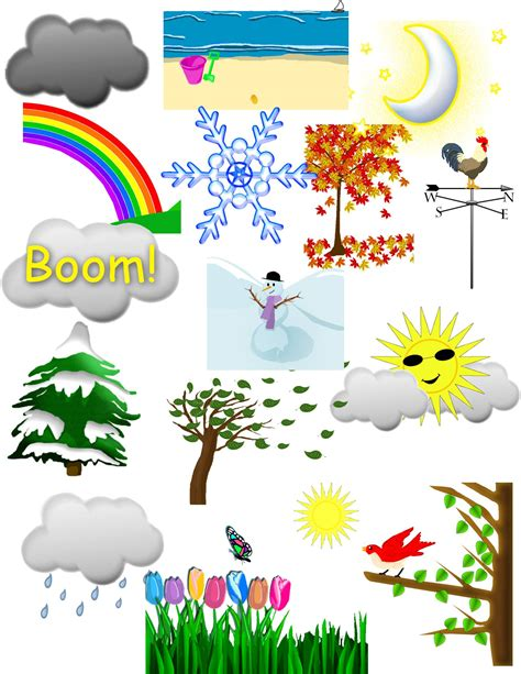 seasons clipart weather and seasons clip bulletin board and weather