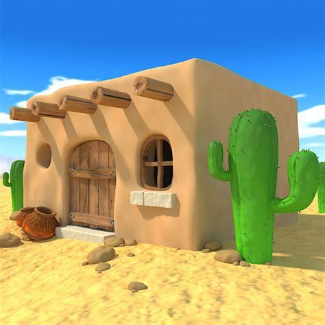 mexico houses cartoon mexican house 3d model
