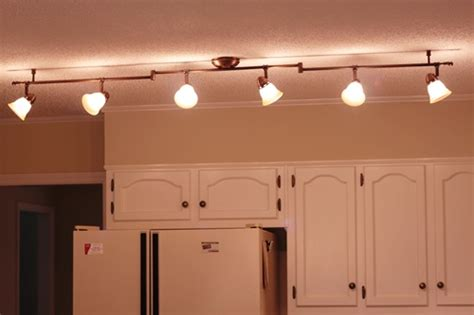 kitchen rail lighting feature friday updating a 1980 s kitchen southern