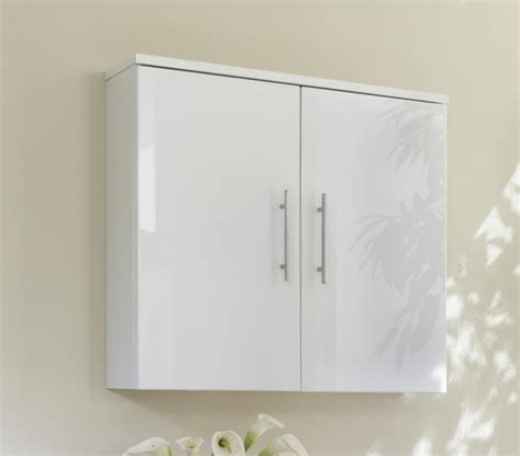Wall Storage Bathroom Gloss White Bathroom Wall Cabinet Home Furniture Design