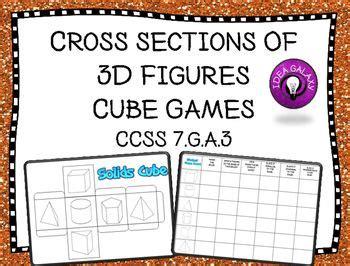 cross sections of 3d figures 48 best geometry images on pinterest teaching math math