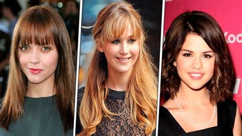 women with bangs before and after with bangs haircuts for round face for women 2016