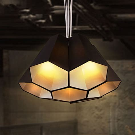 Hexagon Ceiling Light Nordic Minimalist Pendant Light Fabric Shade Hexagon Shade Diy Combination Country Hanging