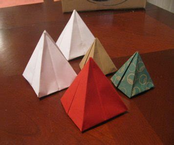 Pyramid Paper Folding - make an origami pyramid