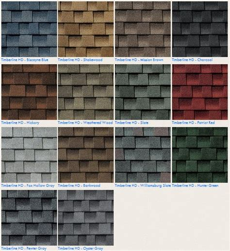 timberline shingles colors gaf timberline hd roofing shingle color options contact