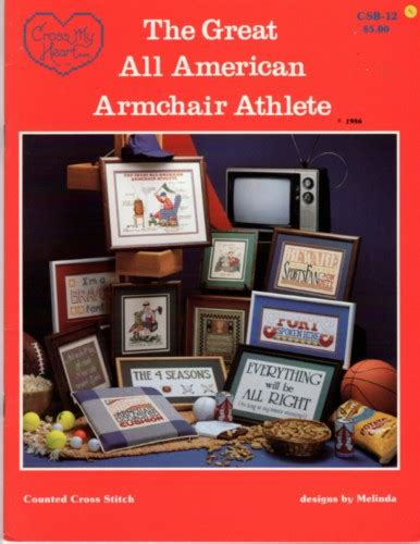 armchair athletes cross my heart the great all american armchair athlete cross stitch stash