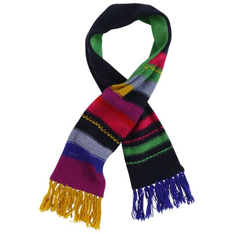 kenzo thick jacquard knit scarf multicoloured 18465