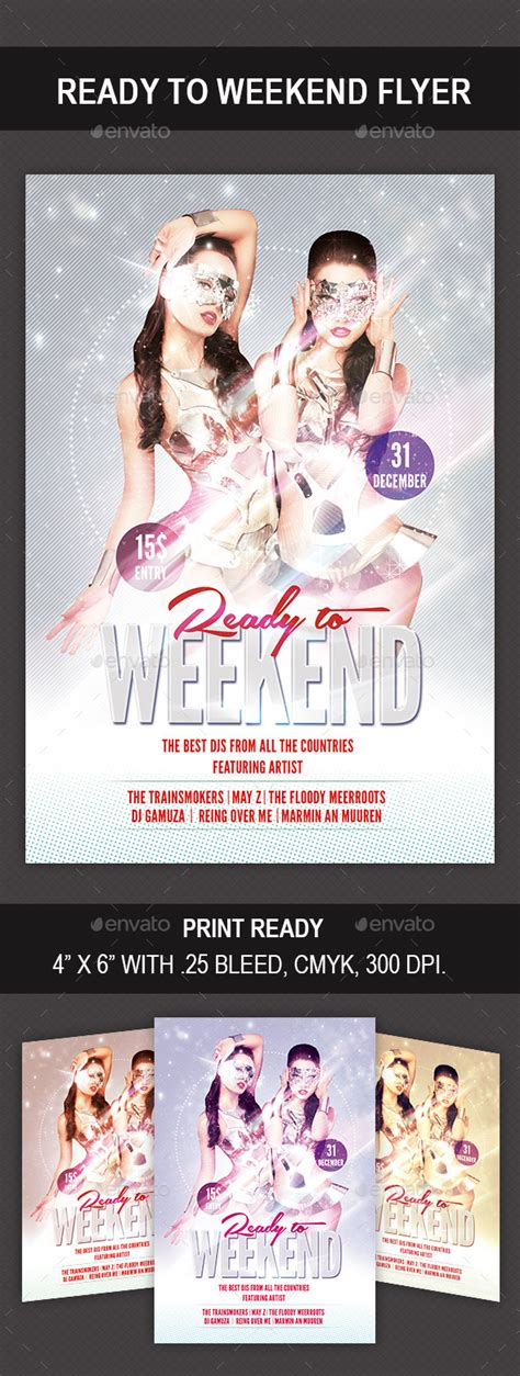 ready made templates for brochures ready to weekend flyer graphicriver